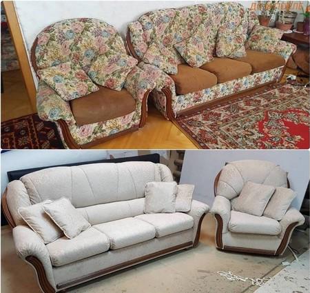 Перетяжка диванов и кресел в Москве
